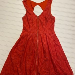 GUESS• size 10 red lace dress